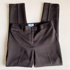 CeCe by Cynthia Steffe Textured Black Pants Sz 4